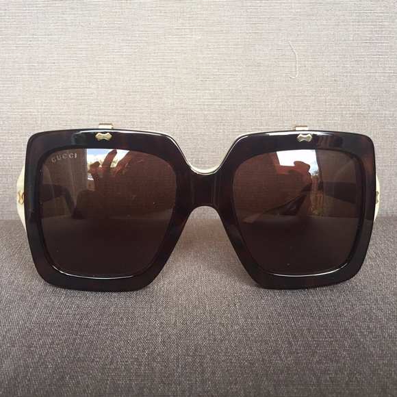 0926369c93 GUCCI GG0088S Flip Up Square Oversized Sunglasses